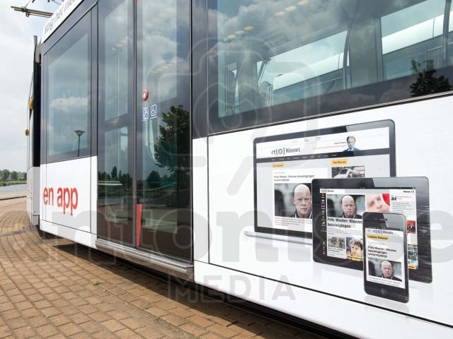 Reclamecampagne RTL NEDERLAND TRAM in ROTTERDAM