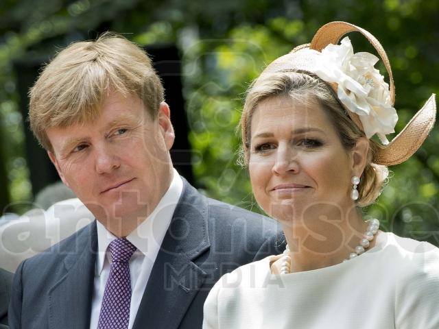 Koning Willem-Alexander en Koningin Maxima bij Keti Koti