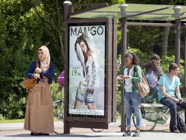Reclamecampagne Mango Rotterdam