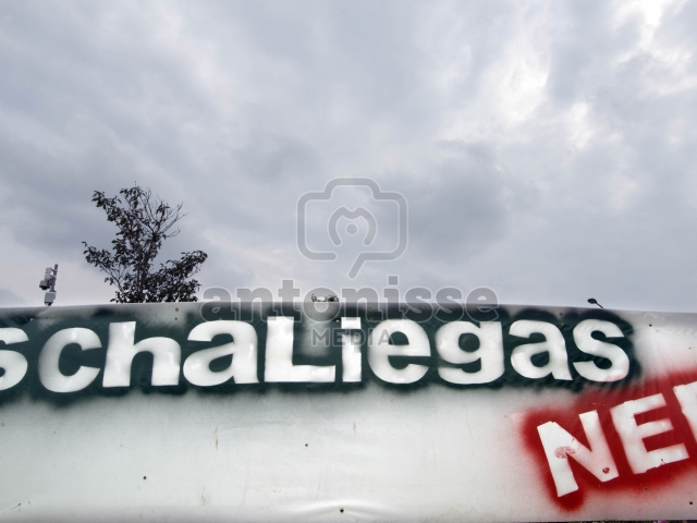 Protest tegen schaliegas