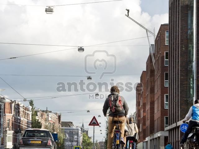 Apart kunstwerk op dak Geestelijke gezondheidsdienst Amsterdam