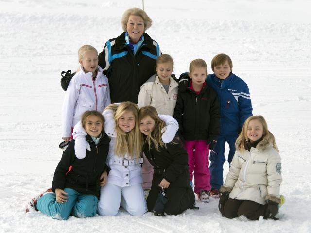 ROYAL FAMILY IN LECH (Austria).